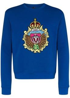 Neil Barrett fangs crest printed sweater