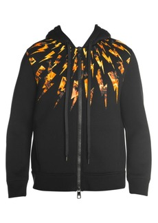 Neil Barrett Flame Graphic Zipper Hoodie