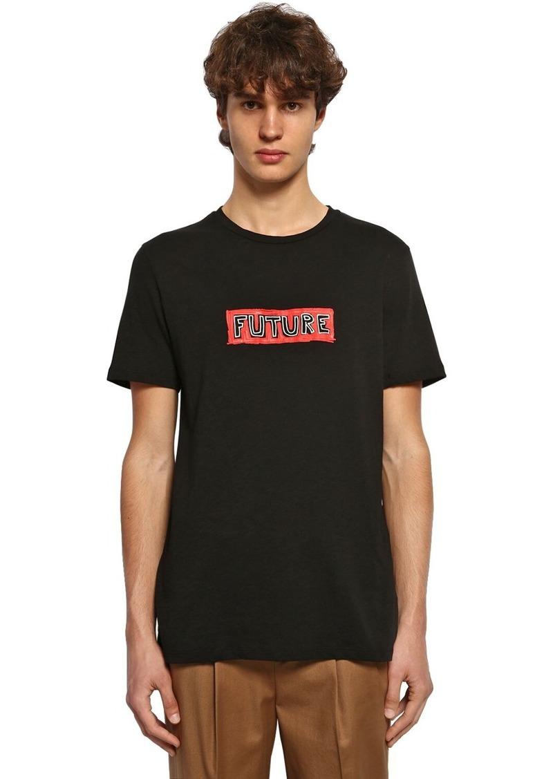Neil Barrett Future Legend Print Jersey T-shirt