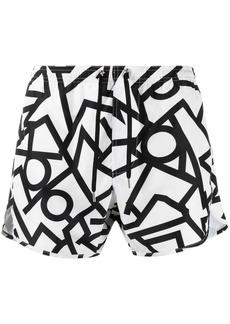 Neil Barrett geometric-print swimming shorts