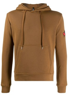 Neil Barrett heart and arrow embroidered hoodie