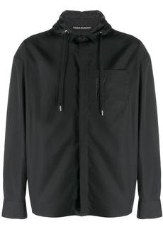 Neil Barrett hooded buttoned-up shirt