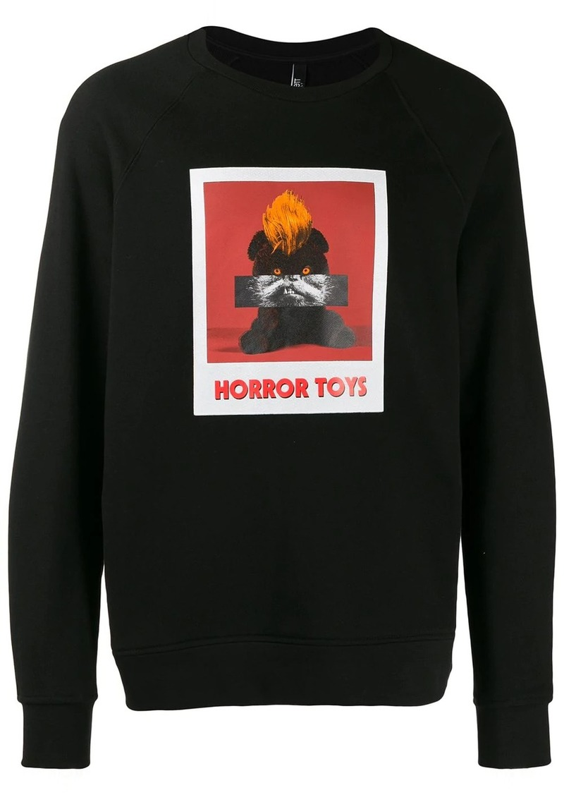 Neil Barrett horror toys sweatshirt