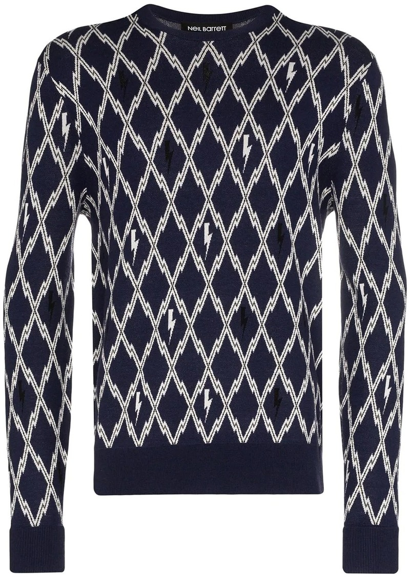 Neil Barrett intarsia-knit jumper