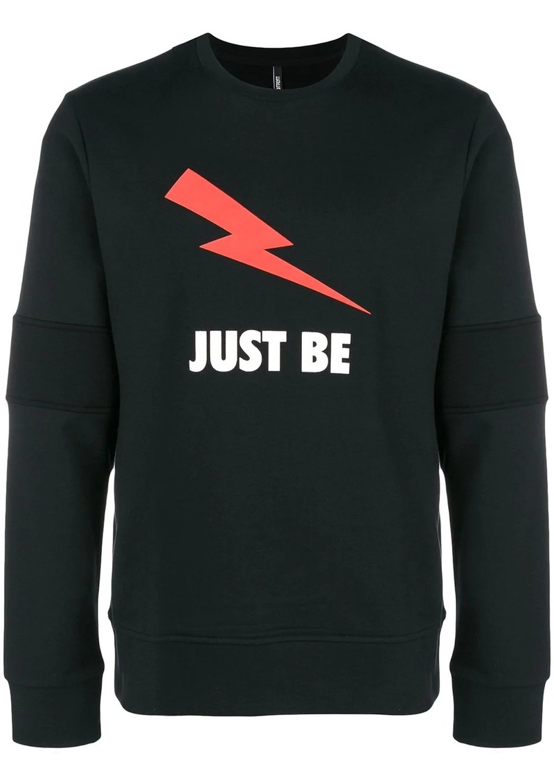 Neil Barrett Just Be print sweatshirt