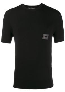 Neil Barrett leather badge T-shirt