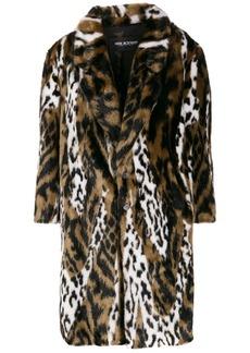 Neil Barrett leopard faux-fur coat