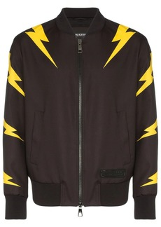 Neil Barrett Lightning Bolt print bomber jacket