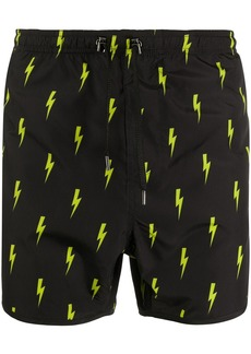 Neil Barrett lightning bolt-print swim shorts