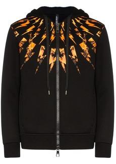 Neil Barrett lightning bolt zip hoodie