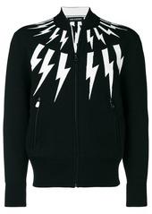 Neil Barrett lightning bolt zip-up jumper