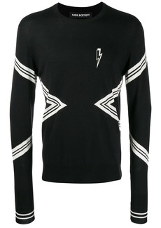 Neil Barrett lightning embroidered sweatshirt