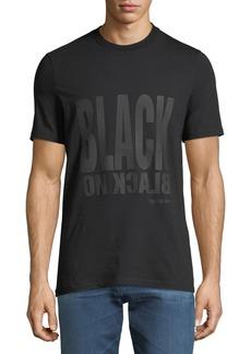 Neil Barrett Men's Black-On-Black Graphic T-Shirt