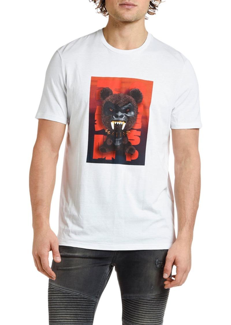 Neil Barrett Men's Fetish Bear Graphic T-Shirt