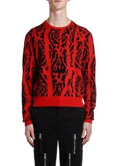 Neil Barrett Men's Ikat Crewneck Sweater