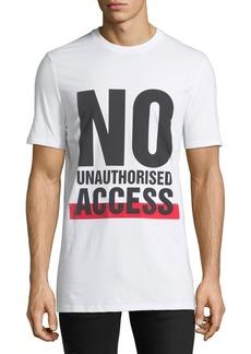 Neil Barrett Men's No Access Graphic T-Shirt