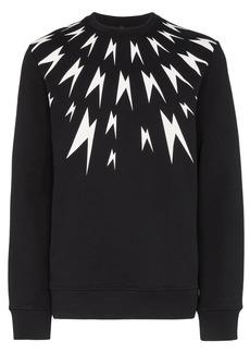 Neil Barrett Meteorites lightning print sweatshirt