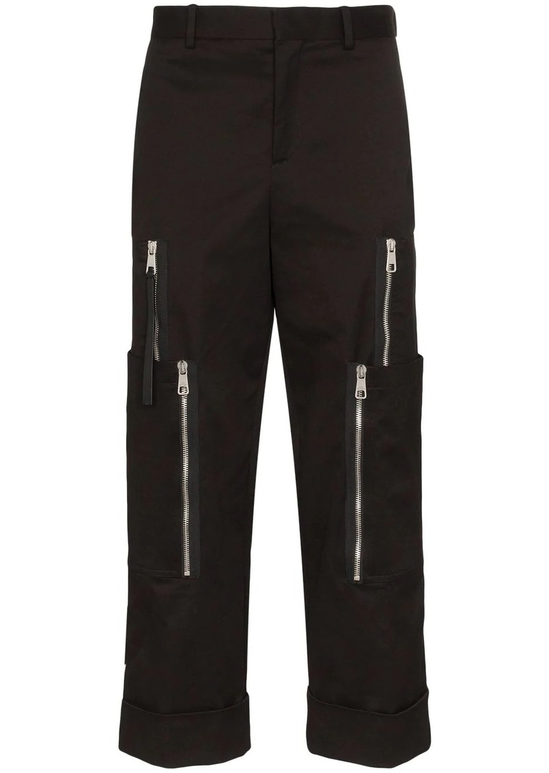 Neil Barrett micro-weave straight leg trousers
