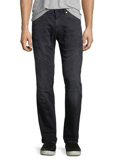 Neil Barrett Military Straight-Leg Moto Jeans