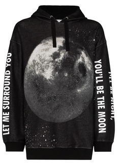 Valentino moon print oversized hoodie