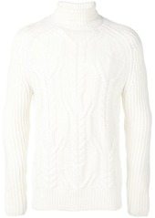 Neil Barrett multi-knit roll neck sweater