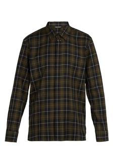 Neil Barrett Barbell tartan cotton-shirt