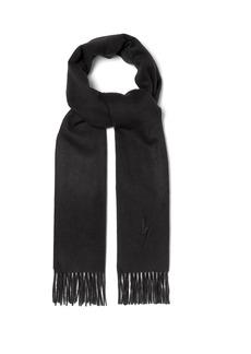 Neil Barrett Bolt-embroidered scarf