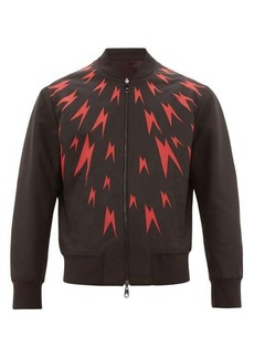 Neil Barrett Bolt-print bomber jacket