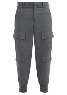 Neil Barrett Cargo-pocket cuffed stretch-gabardine trousers