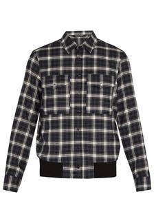 Neil Barrett Checked cotton shirt