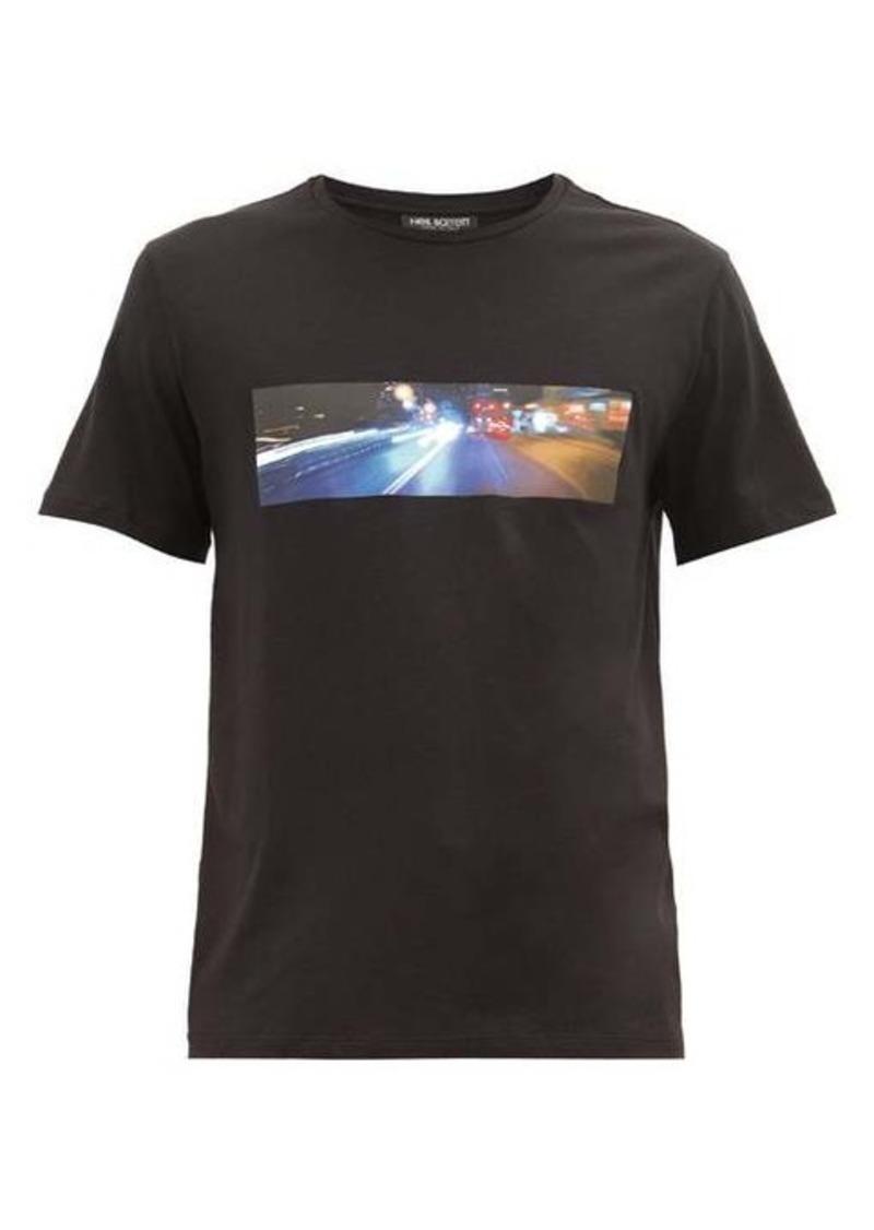 Neil Barrett City Lights-print cotton-blend T-shirt