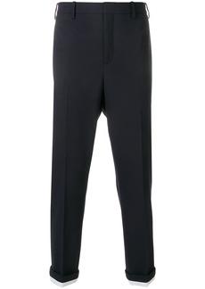 Neil Barrett contrast rolled cuff trousers