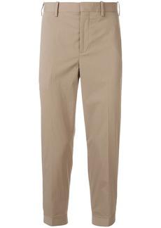 Neil Barrett cropped button cuff trousers