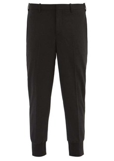 Neil Barrett Cropped-cuff tailored-gabardine trousers