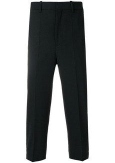 Neil Barrett cropped tuxedo trousers - Black