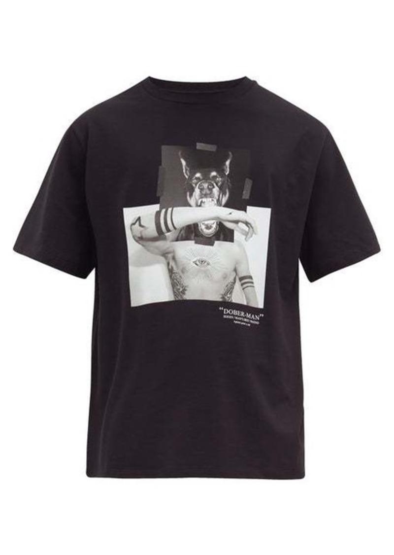 Neil Barrett Dober-man printed cotton T-shirt