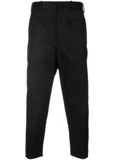 Neil Barrett dropped crotch cropped trousers - Black