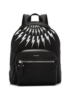 Neil Barrett Fairisle lightning-bolt nylon backpack