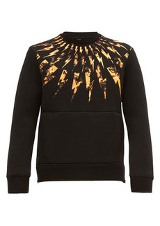 Neil Barrett Fire lightning-bolt neoprene sweatshirt