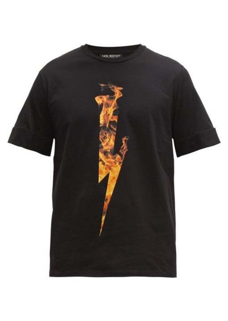 Neil Barrett Firebolt cotton T-shirt