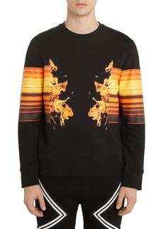 Neil Barrett Flame Graphic Sweatshirt