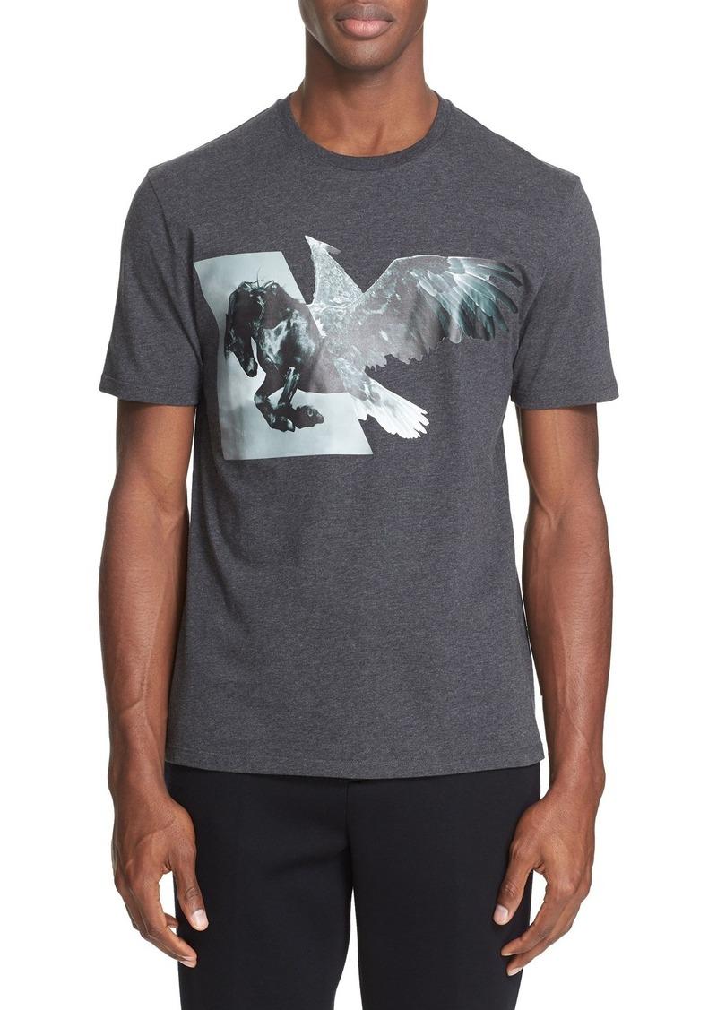 Neil Barrett Horse Eagle Hybrid T-Shirt