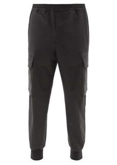 Neil Barrett Jersey carrot-leg cargo trousers