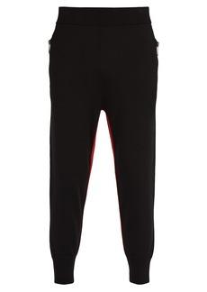 Neil Barrett Knitted stripe trousers