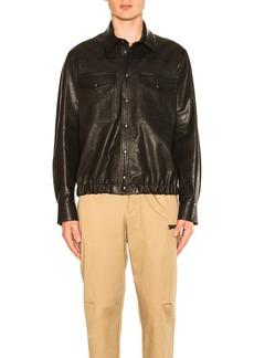 Neil Barrett Leather Blouson Shirt