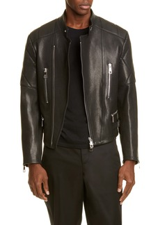 Neil Barrett Leather Moto Jacket