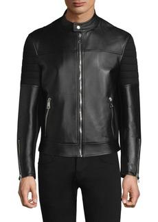 Neil Barrett Leather Sweatshirt Back Jacket