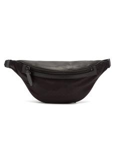 Neil Barrett Leather-trimmed nylon belt bag