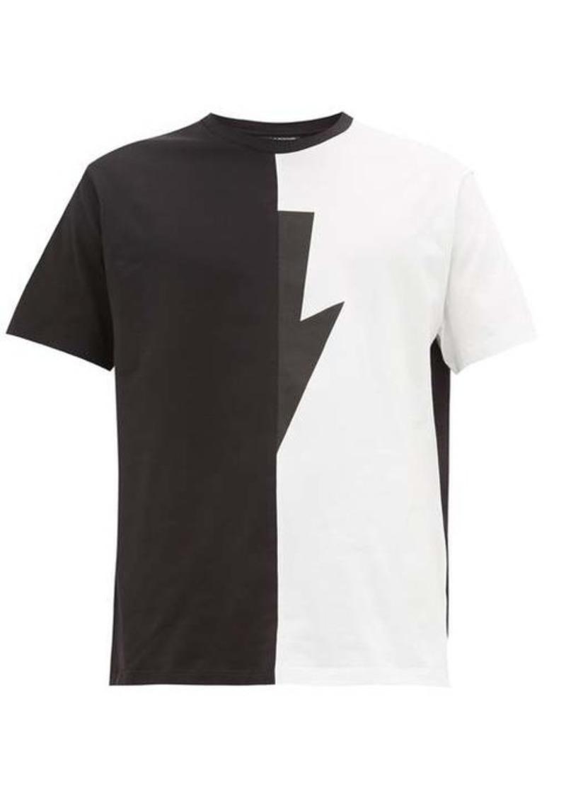 Neil Barrett Lightning-bolt cotton-jersey T-shirt