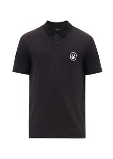 Neil Barrett Logo-patch cotton polo shirt